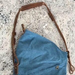 Handbags - Adjustable Canvas Bag w Leather Straps